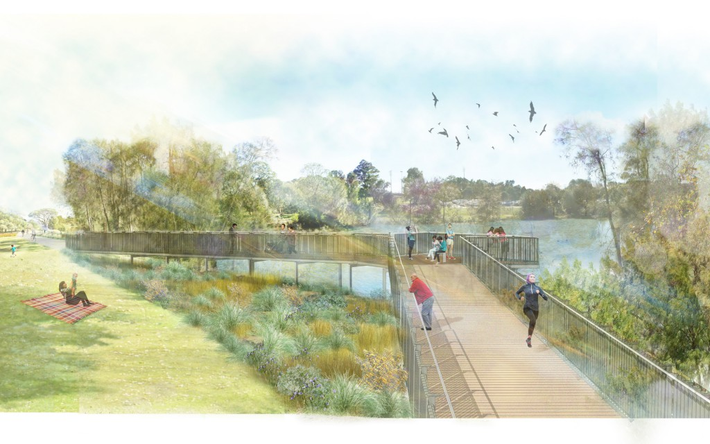 Parramatta Stage 2-Boardwalk and Lookout Visualisation